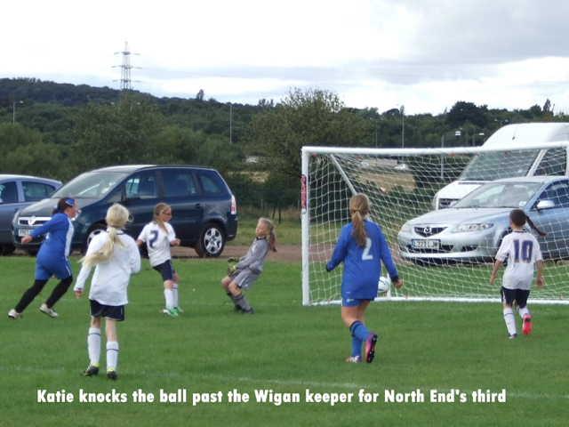 Katie scores North End's third