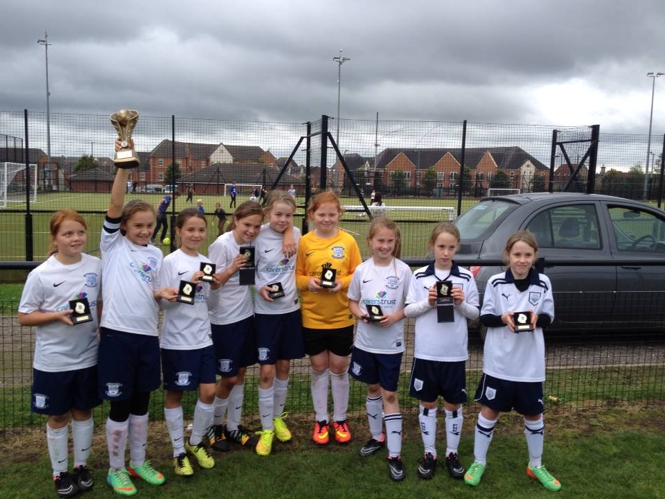 Euxton tournament 30/8/14 u11s with medals 2